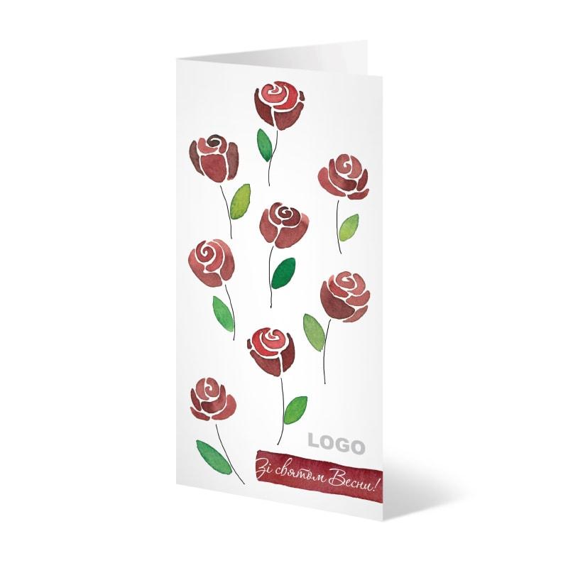 Девчонками, открытка к 8 марта корпоративная открытка